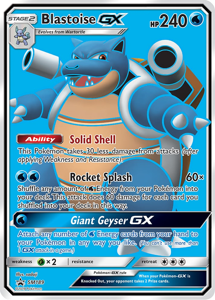 Pokemon TCG Online Codes For Blastoise-GX Promo Automatic E-mail Delivery