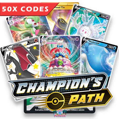 148x Champion/'s Path Darkness Ablaze Shining Legends Pokemon online code TCGO