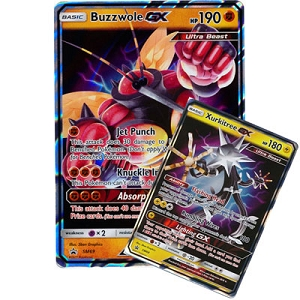 Pokemon TCG Online Codes For Ultra Beasts GX Premium Collection Buzzwole and Xurkitree