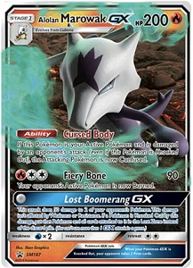 Pokemon TCG Online Codes For Alolan Marowak GX SM187 Promo