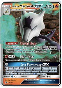 Pokemon TCG Online Codes For Alolan Marowak GX SM187 Promo Automatic E-mail Delivery