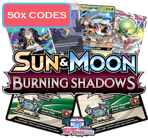 50x Pokemon TCG Online Codes For Sun And Moon Burning Shadows Booster Pack - Automatic E-mail Delivery