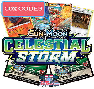 50x Pokemon TCG Online Codes For Sun And Moon Celestial Storm Booster Pack - Automatic E-mail Delivery