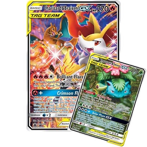Pokemon TCG Online Codes For Charizard & Braixen-GX and Venusaur & Snivy-GX TAG TEAM Generations Premium Collection