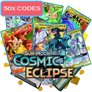 50x Pokemon TCG Online Codes For Sun And Moon Cosmic Eclipse Booster Pack - Automatic E-mail Delivery