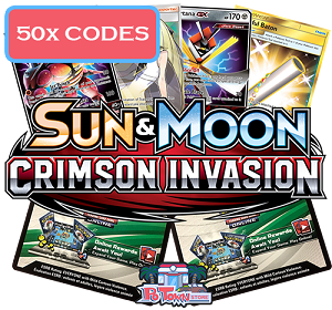 50x Pokemon TCG Online Codes For Sun And Moon Crimson Invasion Booster Pack - Automatic E-mail Delivery