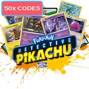 50x Pokemon TCG Online Codes For Detective Pikachu Booster Pack - Automatic E-mail Delivery