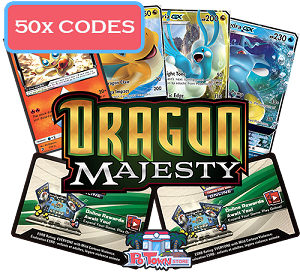 50x Pokemon TCG Online Codes For Dragon Majesty Booster Pack - Automatic E-mail Delivery