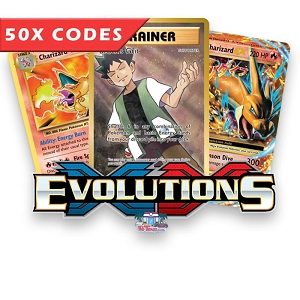 50x Evolutions - Bulk Pokemon TCG Codes Online