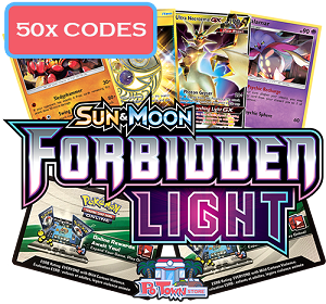 50x Pokemon TCG Online Codes For Sun And Moon Forbidden Light Booster Pack - Automatic E-mail Delivery
