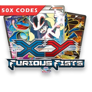 50x Furious Fists - Pokemon TCG Codes Online Bulk