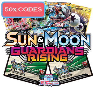 50x Pokemon TCG Online Codes For Sun And Moon Guardians Rising Booster Pack - Automatic E-mail Delivery