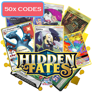 50x Pokemon TCG Online Codes For Hidden Fates Booster Pack - Automatic E-mail Delivery