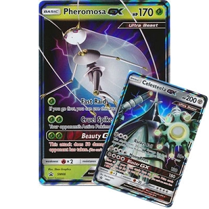 Pokemon TCG Online Codes For Ultra Beasts GX Premium Collection Pheromosa and Celesteela