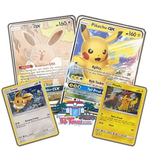 Pikachu-GX & Eevee-GX Special Collection Box - PTCGO Code