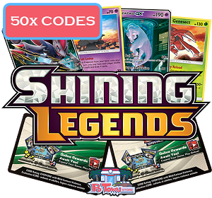 50x Pokemon TCG Online Codes For Shining Legends Booster Pack - Automatic E-mail Delivery