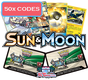 50x Pokemon TCG Online Codes For Sun And Moon Sun & Moon Base Booster Pack - Automatic E-mail Delivery
