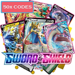 50x Pokemon TCG Online Codes For Sword And Shield Booster Pack