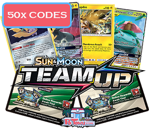 50x Pokemon TCG Online Codes For Sun And Moon Team Up Booster Pack - Automatic E-mail Delivery