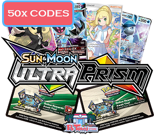 50x Pokemon TCG Online Codes For Sun And Moon Ultra Prism Booster Pack - Automatic E-mail Delivery