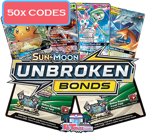 50x Pokemon TCG Online Codes For Sun And Moon Unbroken Bonds Booster Pack - Automatic E-mail Delivery