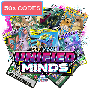 50x Pokemon TCG Online Codes For Sun And Moon Unified Minds Booster Pack - Automatic E-mail Delivery