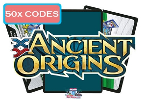 50x Pokemon TCG Online Codes For XY Ancient Origins Booster Pack