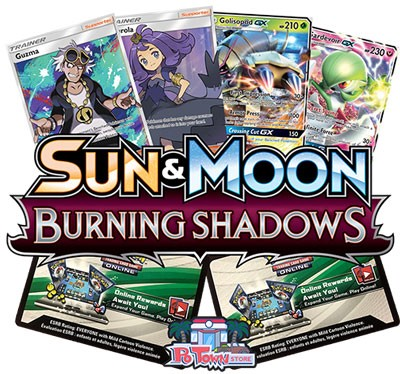 Pokemon TCG Online Codes For Sun And Moon Burning Shadows Booster Pack