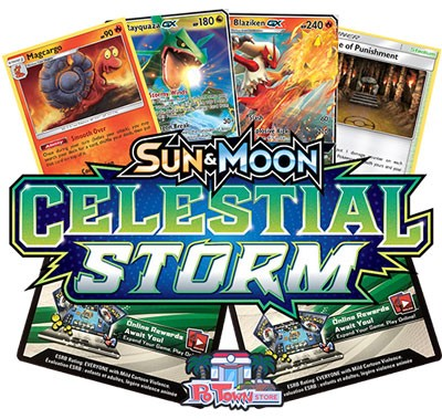 Pokemon TCG Online Codes For Sun And Moon Celestial Storm Booster Pack