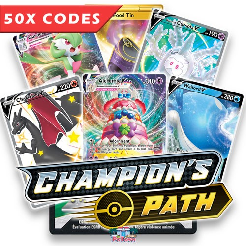 Bulk 50x Champion's Path - Pokemon TCGO Codes Online