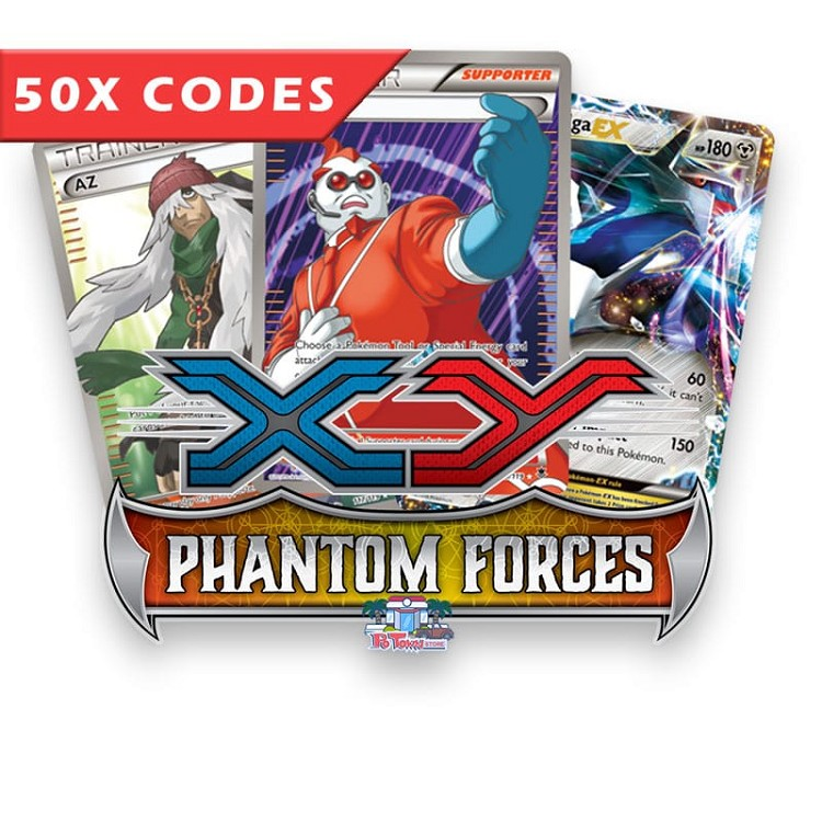 50x Phantom Forces - Pokemon TCG Codes Online Bulk
