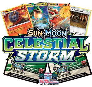 Pokemon TCG Online Codes For Sun And Moon Celestial Storm Booster Pack - Automatic E-mail Delivery