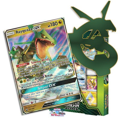 Pokemon TCG Online Codes For Battle Arena  Rayquaza GX Deck