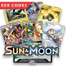 Bulk 50x Sun & Moon Base - Pokemon TCGO Codes Online