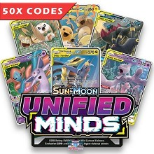 Bulk 50x Unified Minds - Pokemon TCGO Codes Online