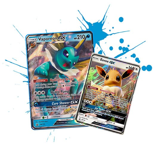 Pokemon TCG Online Vaporeon GX SM173 & Eevee GX SM176 Code - Automatic E-mail Delivery